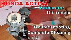 how to clean scooter carburetor honda activa