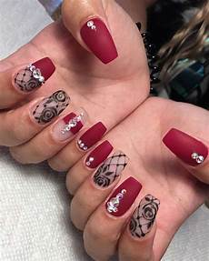 44 cute matte red nail designs summer 2018 red nail