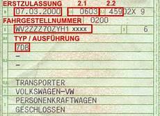 Wo Is Die Quot Schl 252 Sselnummer Quot Im Fahrzeugschein