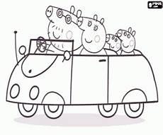 Ausmalbilder Peppa Wutz Familie Ausmalbilder Die Peppa Wutz Familie Im Auto Zum Ausdrucken