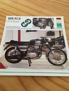 bmw puch 250 350 bicylindre 1970 carte moto collection