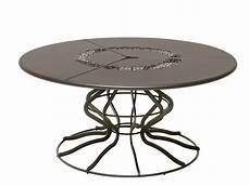 Table De Jardin Ronde En Acier Minuetto By Emu