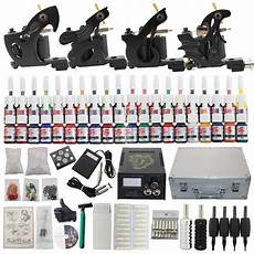 tattoo complete kit set 4 tattoo machine tips 40 inks