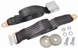 1953 65 CHEVROLET CAR OR TRUCK UNIVERSAL SEAT BELT BLACK
