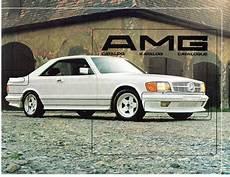 car manuals free online 1993 mercedes benz 500sec seat position control vintage 1984 mercedes benz amg catalog katalog catalogue sec 500 sel 190e sl ebay