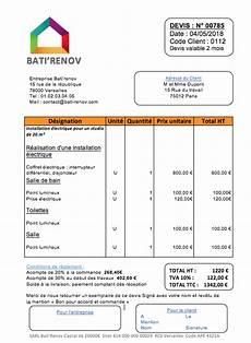 logiciel devis electricite prix de travaux d 233 lectricit 233 et exemple de devis