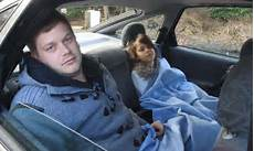 In Car - ex soldier and his family living in car after being