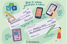 write a check to yourself or move money online