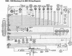 Ford Mustang 1988 1990 2 3l Eec Wiring Diagram All About