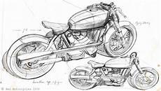Cafe Racer Bike Sketch