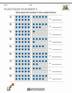 place value worksheet to 20 5659 place value to 20 worksheets