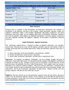 sle performance appraisal form