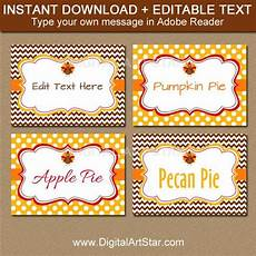friendsgiving labels printable thanksgiving buffet cards