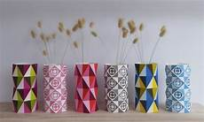 Home Decor Ideas Diy With Paper by Geo Vases Diy Paper Craft By Giggenbach Project
