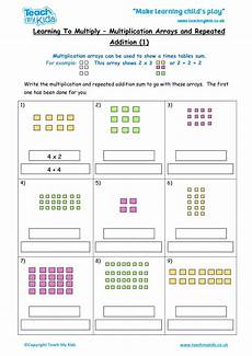 multiplication as repeated addition worksheets for grade 2 9502 multiplication arrays repeated addition 1 tmk education