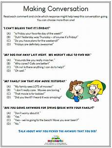 social skills worksheets for kids and
