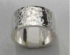 flat profile hammered silver wedding ring love2have in