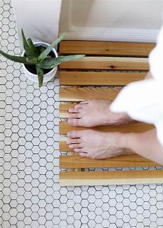 diy cedar bath mat the merrythought
