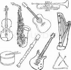musical instruments stock vector colourbox