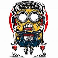 Minion I Believe I Can Fly Kartun Desain Logo
