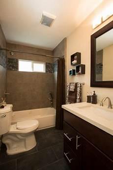 Bathroom With Grey Tile Floors Tiled Shower White