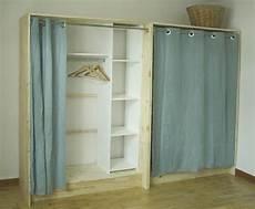 dressing bois et rideaux en low cost et dressing