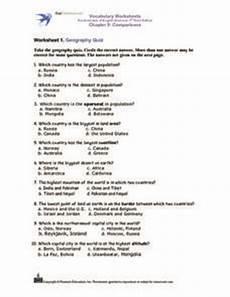 worksheet 1 geography quiz 3rd 5th grade worksheet