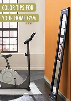 your home gym is the space to take a design risk by using energetic paint colors like
