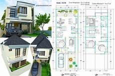 Rumah 2 Lantai Lebar 6 Meter Minimalis Jasa Desain Rumah