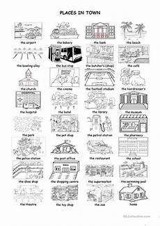 places in community worksheets 15955 places in town worksheet free esl printable worksheets made by teachers