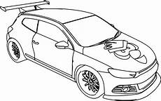 Malvorlagen Autos Vw Vw Scirocco Car Angry Bird Coloring Page