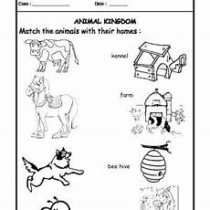 animal kingdom worksheets for kindergarten 14201 worksheet 05 animals and their homes animal habitats animals their homes animal science