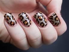 blinged out leopard china glaze on safari nail art