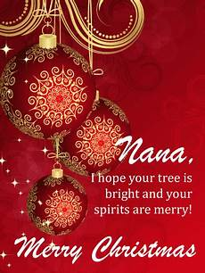 holiday cheer ornaments merry christmas card for grandmother birthday greeting cards by davia