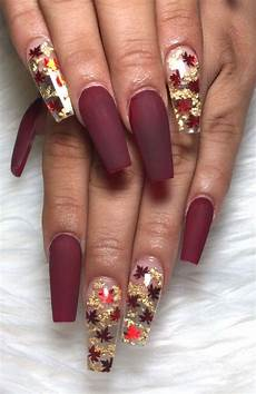 22 trendy fall nail design ideas deep plum nails