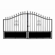 Portail Fer Braga Noir 300 X H 120 174 Cm Castorama