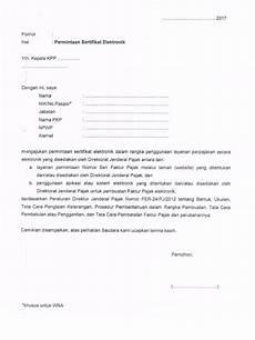 contoh sertifikat elektronik faktur pajak contoh surat permohonan e faktur pajak surat 0