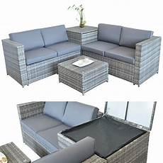 garten sofa xxl polyrattan sitzgruppe auflagenbox garten sofa