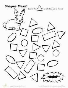 shape maze worksheet 1194 bunny shape maze worksheet education