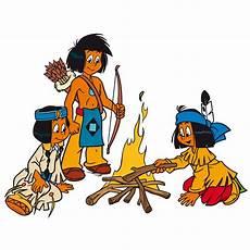 Ausmalbild Indianer Am Lagerfeuer Wandtattoo Yakari Am Lagerfeuer Indianer Wandsticker Mit