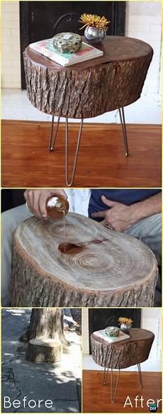 Diy Satin Coated Stump Tisch Anleitung Rohholz Logs Und