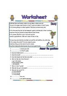 reading comprehension worksheet 2 pages esl worksheet