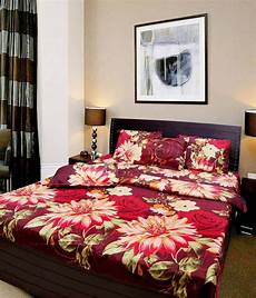elegance multicolor abstract poly cotton 2 bed sheets with 4 pillow covers buy elegance
