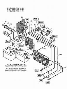 ez go electric golf cart wiring diagram wiring diagram and fuse box diagram