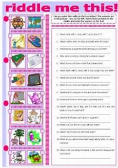 riddles worksheets language 10875 exercises riddle me
