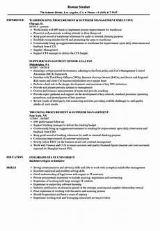 supplier management resume sles velvet