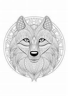 Malvorlagen Wolf Hill Ausmalbilder Erwachsene Tiere L 246 We Mandala Vorlage