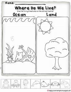 science worksheets for nursery class 12314 commotion habitat activities kindergarten science