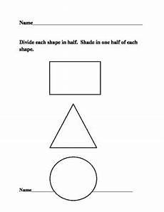 halving shapes worksheet eyfs 1106 grade em chapter 8 one half of shapes fractions two worksheets