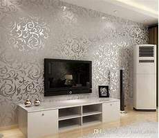 4 Colours Luxury Velvet Wallpaper Tv Background